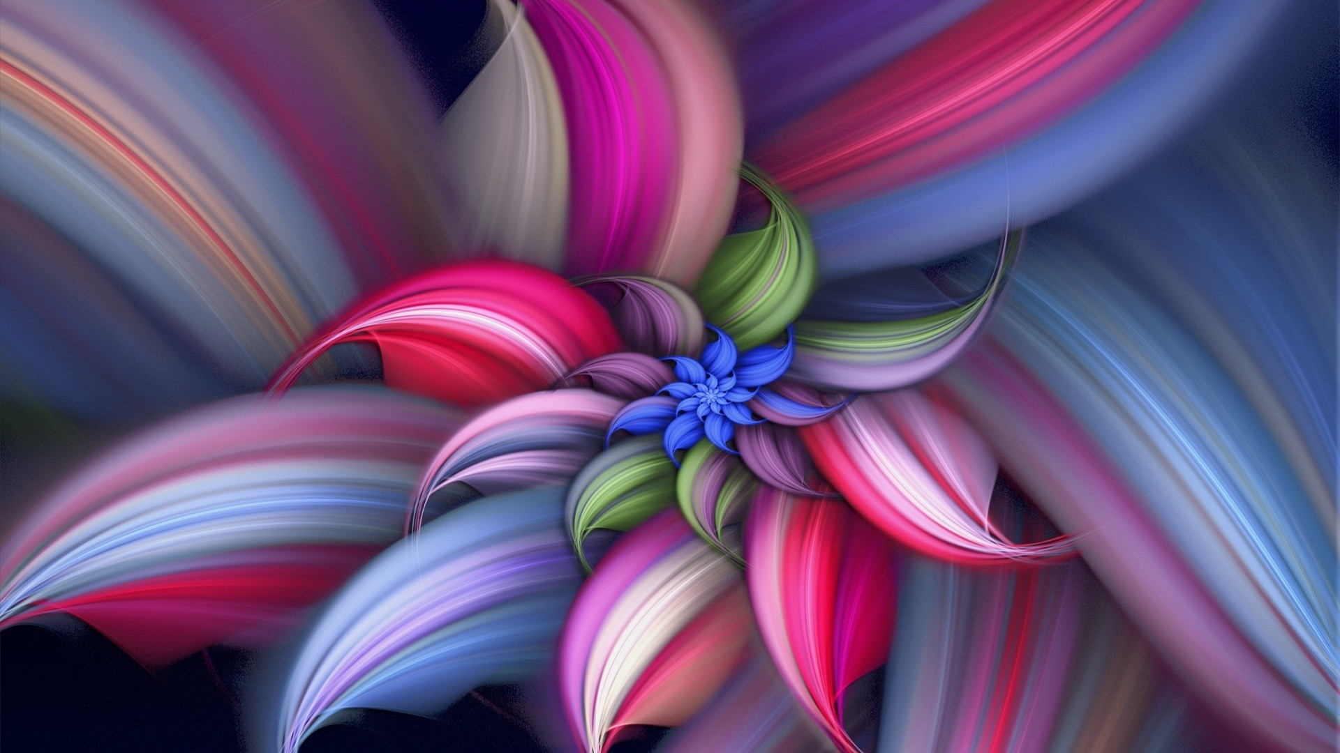 Amazing Abstract Flower Vector Design HD Wallpaper Image