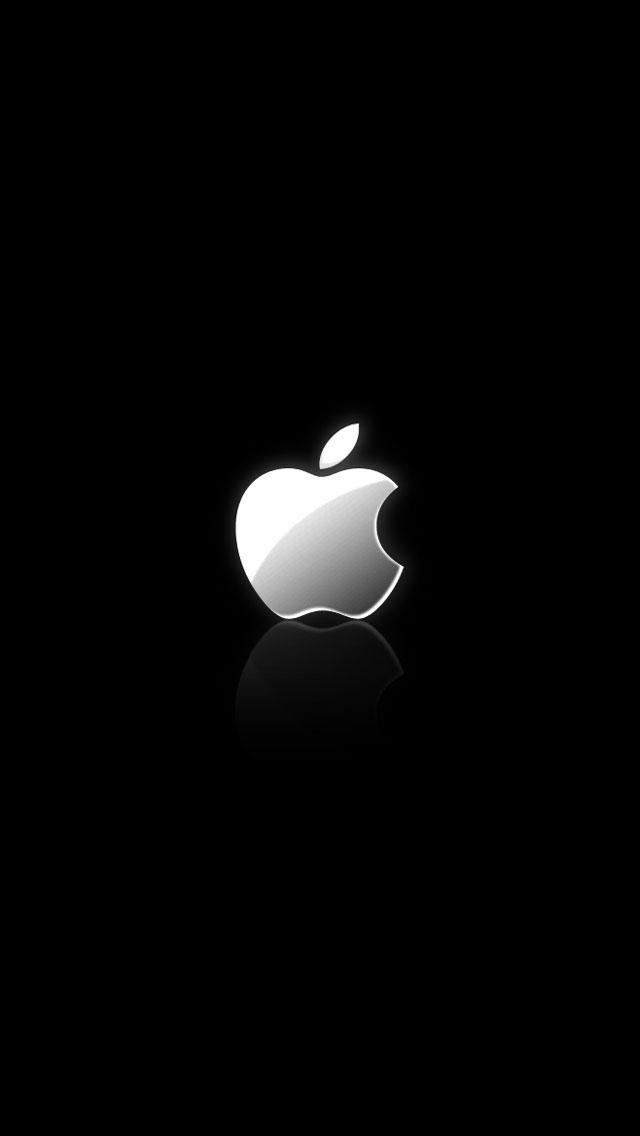 Free Download iPhone 5 White Logo Black Background HD Wallpaper