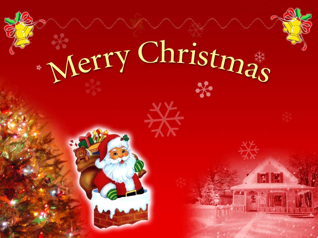 Merry Christmas Santa Clauz Wallpaper HD Widescreen For PC Computer