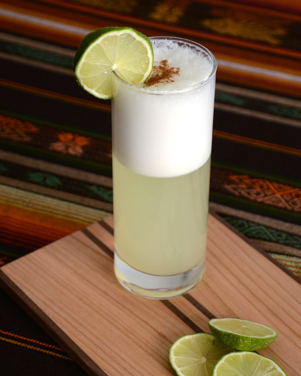 Pisco Sour Cocktail Drink With Lemon From Peru And Chili Photo Picture