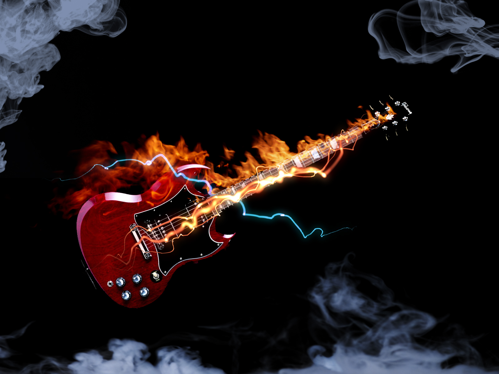 Gibson SG Electric Guitar HD Wallpaper Widescreen For Your PC Computer