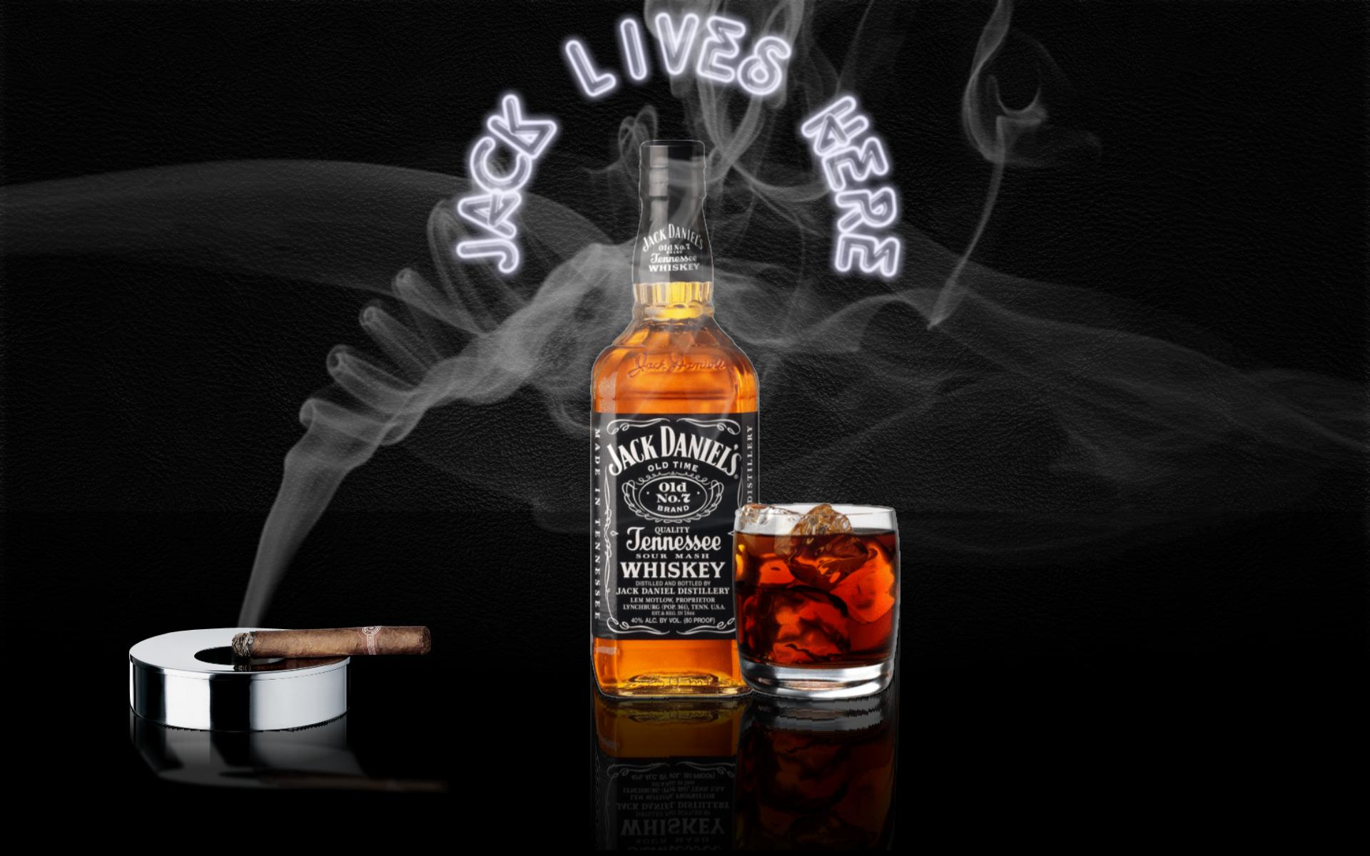 Jack Daniels And Cigarette HD Wallpaper Image For PC Desktop