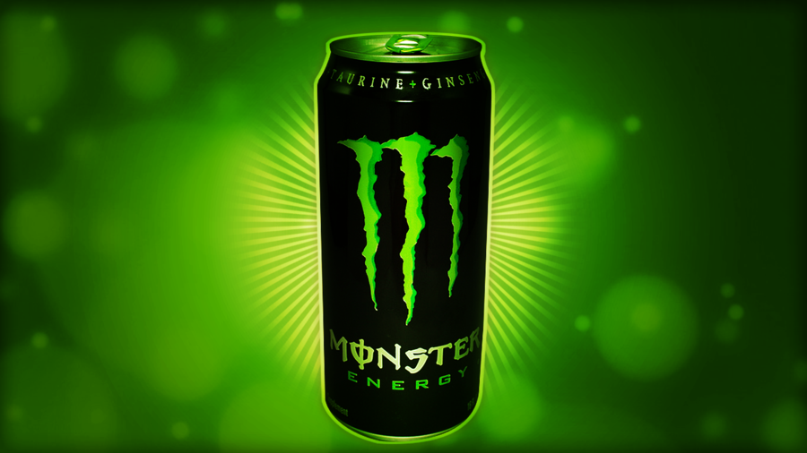 Monster Energy Black Tin And Green Background HD Wallpaper