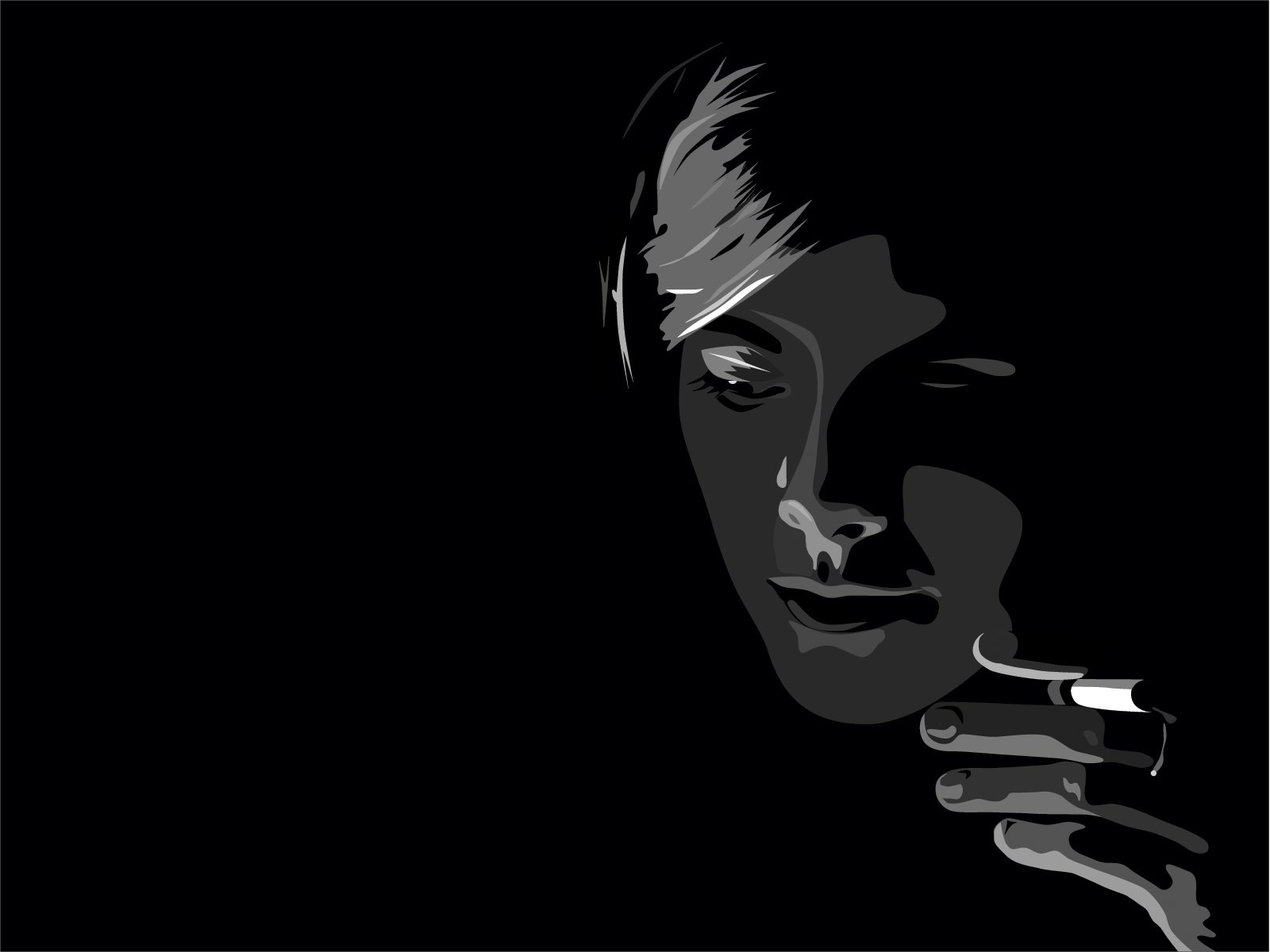 Beautiful Shadow Face With Smoke HD Wallpaper For Your PC Computer