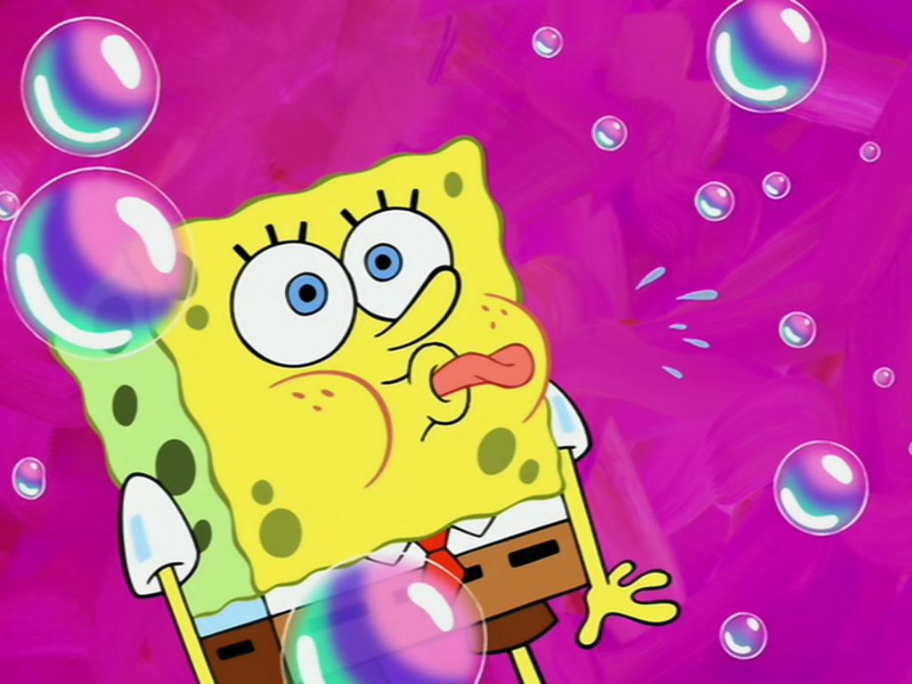Spongebob Squarepants Cartoon Purple Background HD Wallpaper